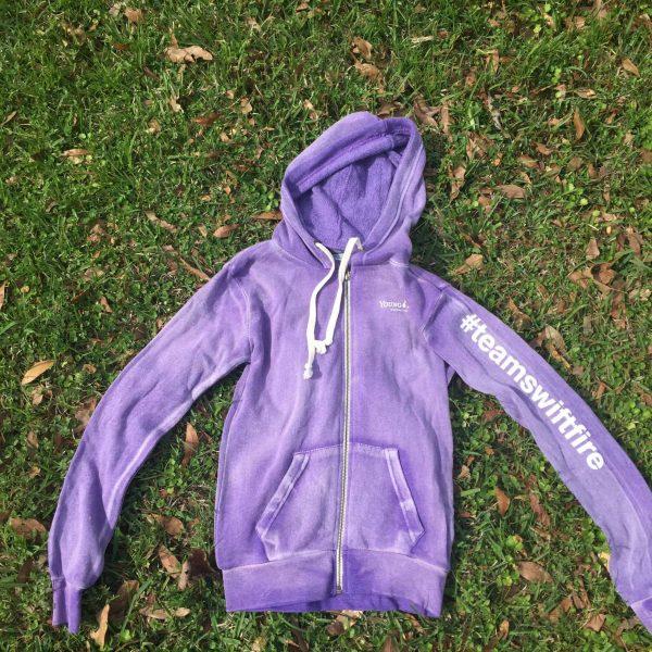 purple hoodies