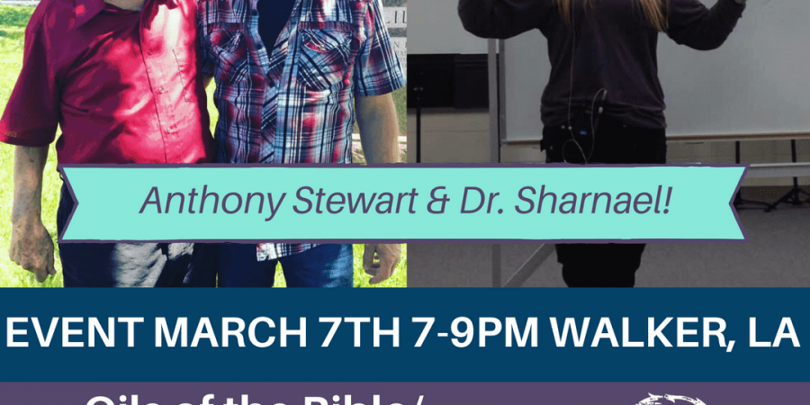 oils of the bible dr sharnael anthony stewart